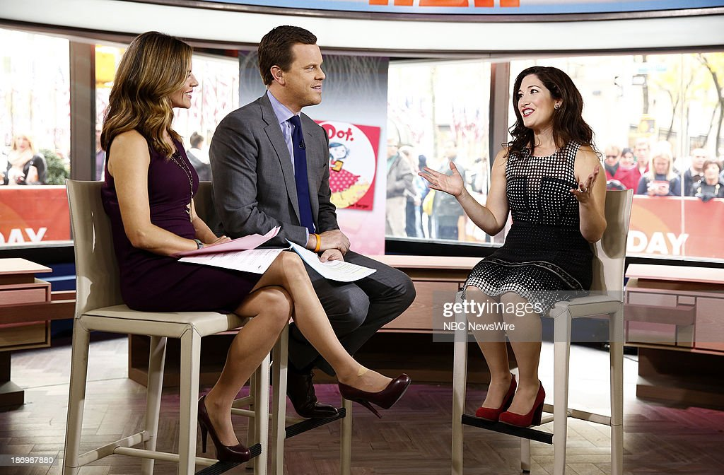 NBC News' <a gi-track='captionPersonalityLinkClicked' href=/galleries/search?phrase=Natalie+Morales+-+News+Anchor&family=editorial&specificpeople=710956 ng-click='$event.stopPropagation()'>Natalie Morales</a>, Willie Geist and Zuckerberg Media founder Randi Zuckerberg appear on NBC News' 'Today' show on November 5, 2013 --