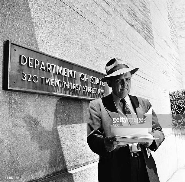 NBC News' Robert McCormick in front of the Department of State in Washington DC in 1961