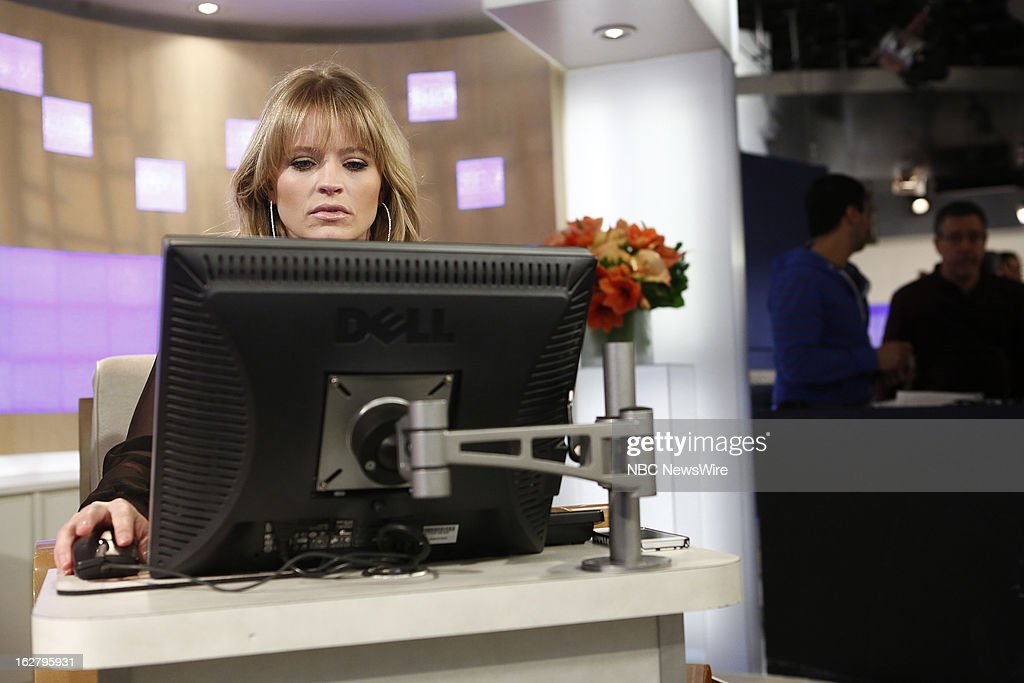 NBC News' Sara Haines appears on NBC News' 'Today' show on February 27, 2013 --
