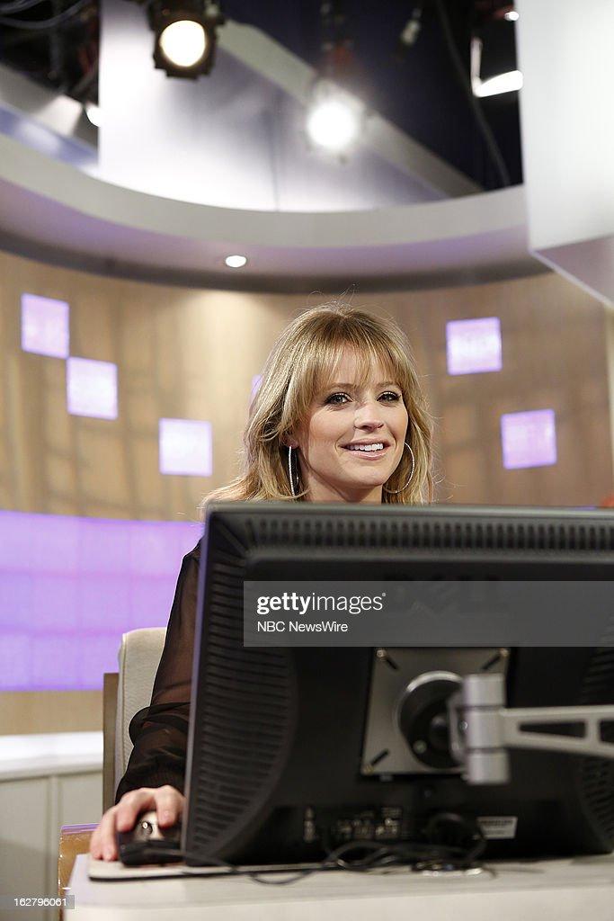 NBC News' Sara Haines appears on NBC News' 'Today' show on February 27, 2013 --