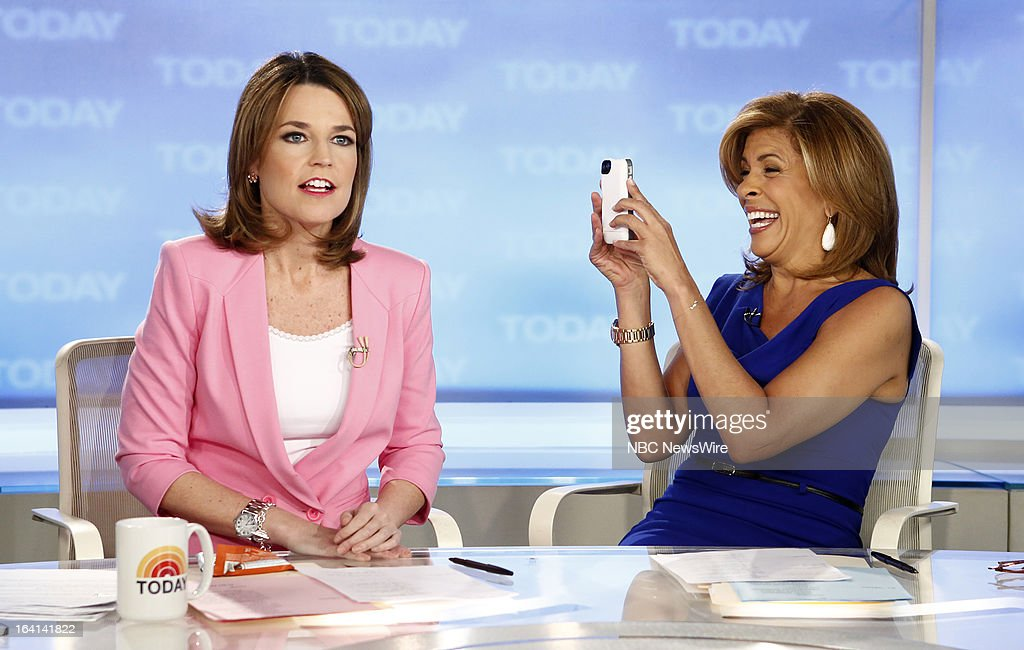 NBC News' Savannah Guthrie and Hoda Kotb appear on NBC News' 'Today' show on March 20, 2013 --