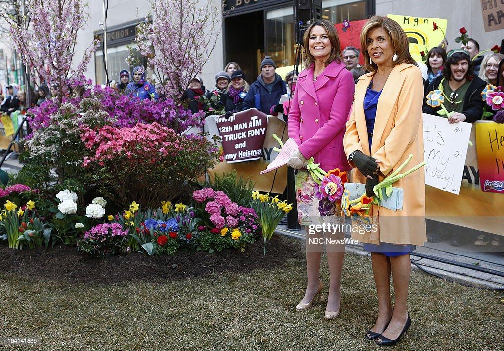 NBC News' Savannah Guthrie and Hoda Kotb appear on NBC News' 'Today' show on March 20, 2013 --