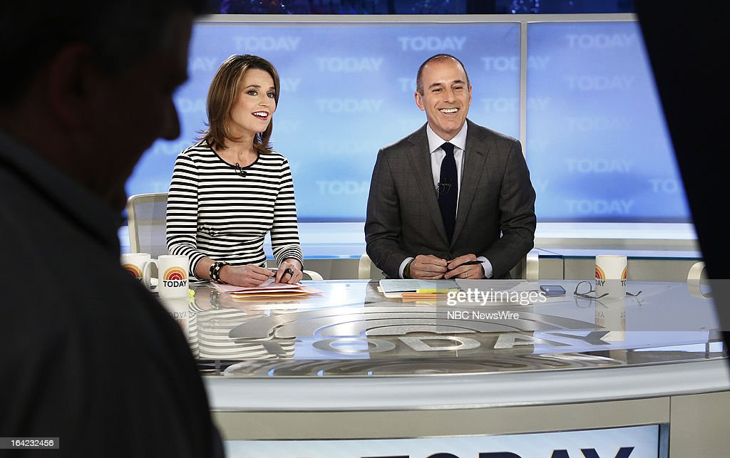 NBC News' Savannah Guthrie and Matt Lauer appear on NBC News' 'Today' show on March 21, 2013 --