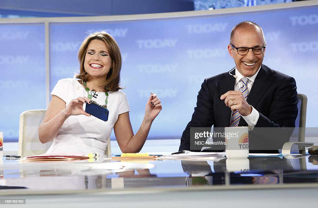 NBC News' Savannah Guthrie and Matt Lauer appear on NBC News' 'Today' show on May 6, 2013 --