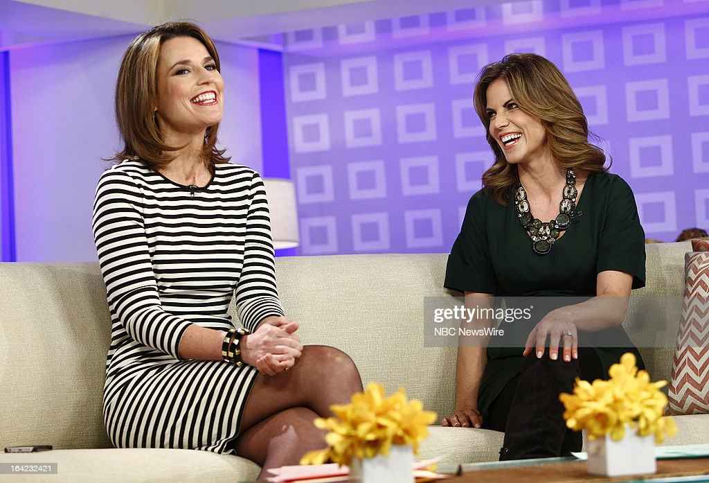 NBC News' Savannah Guthrie and Natalie Morales appear on NBC News' 'Today' show on March 21, 2013 --