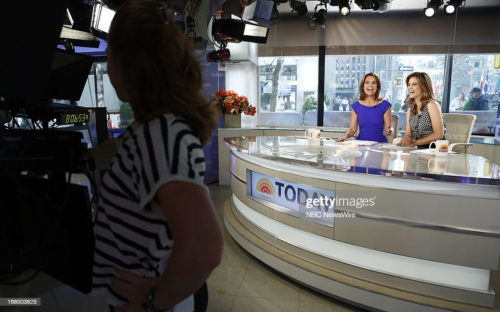 NBC News' Savannah Guthrie and Natalie Morales appear on NBC News' 'Today' show on May 10, 2013 --