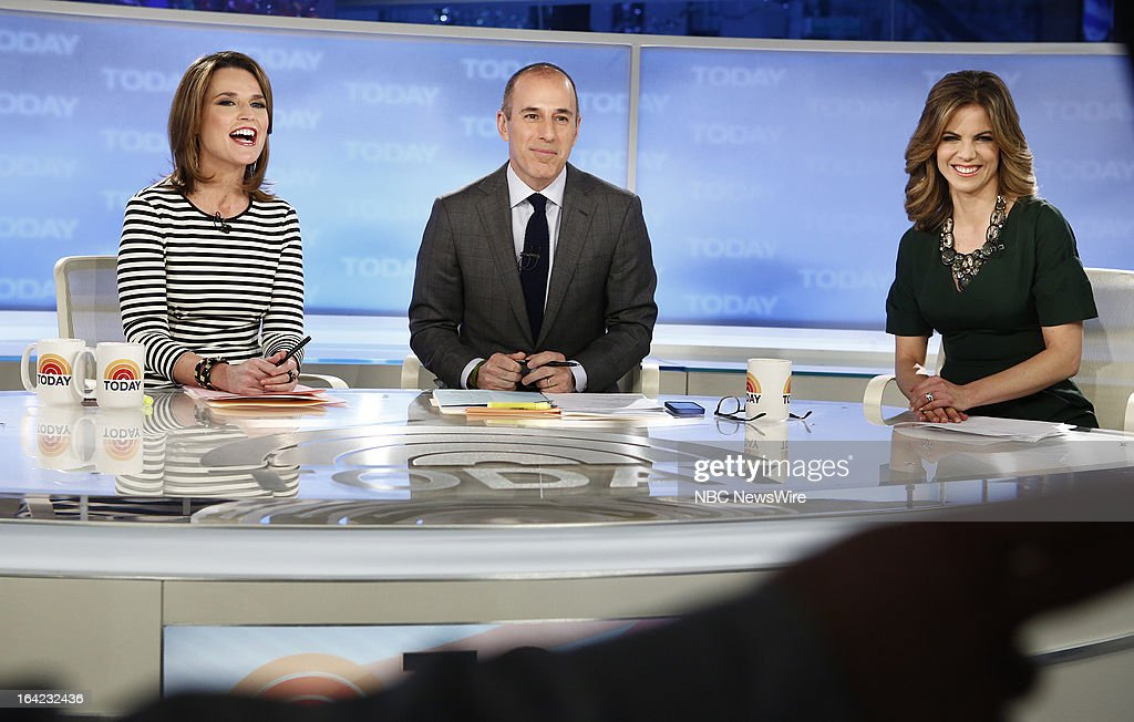 NBC News' Savannah Guthrie, Matt Lauer and Natalie Morales appear on NBC News' 'Today' show on March 21, 2013 --