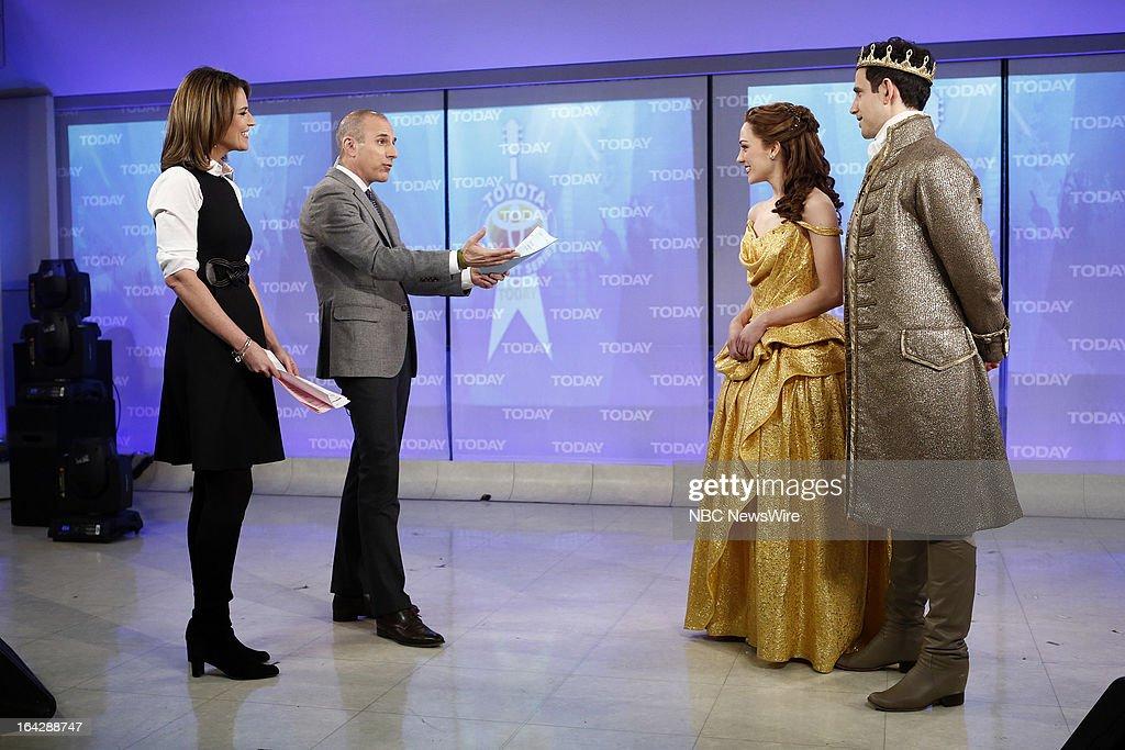 NBC News' Savannah Guthrie, Matt Lauer, Laura Osnes and Santino Fontana appear on NBC News' 'Today' show on March 22, 2013 --