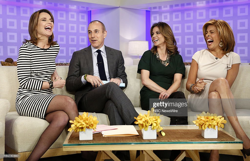 NBC News' Savannah Guthrie, Matt Lauer, Natalie Morales and Hoda Kotb appear on NBC News' 'Today' show on March 21, 2013 --
