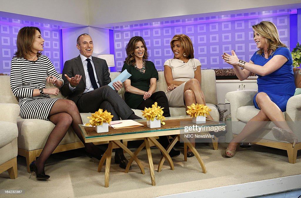NBC News' Savannah Guthrie, Matt Lauer, Natalie Morales, Hoda Kotb and Jenna Bush Hager appear on NBC News' 'Today' show on March 21, 2013 --