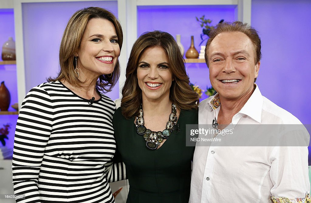 NBC News' Savannah Guthrie, Natalie Morales and musician/actor David Cassidy appear on NBC News' 'Today' show on March 21, 2013 --
