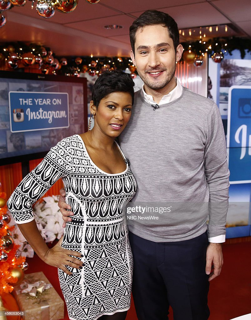 NBC News' Tamron Hall and Instagram co-founder <a gi-track='captionPersonalityLinkClicked' href=/galleries/search?phrase=Kevin+Systrom&family=editorial&specificpeople=7804585 ng-click='$event.stopPropagation()'>Kevin Systrom</a> appear on NBC News' 'Today' show on December 13, 2013 --