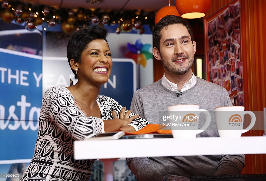 NBC News' Tamron Hall and Instagram co-founder Kevin Systrom appear on NBC News' 'Today' show on December 13, 2013 --