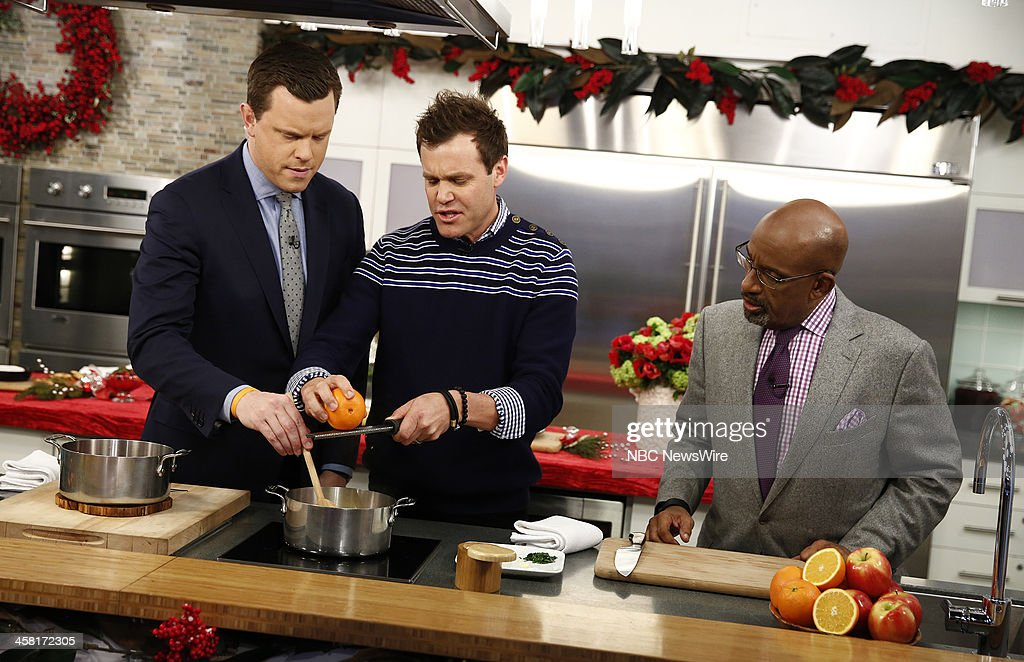 NBC News' Willie Geist, chef Brian Malarkey, NBC News' <a gi-track='captionPersonalityLinkClicked' href=/galleries/search?phrase=Al+Roker&family=editorial&specificpeople=206153 ng-click='$event.stopPropagation()'>Al Roker</a> appear on NBC News' 'Today' show on December 20, 2013 --