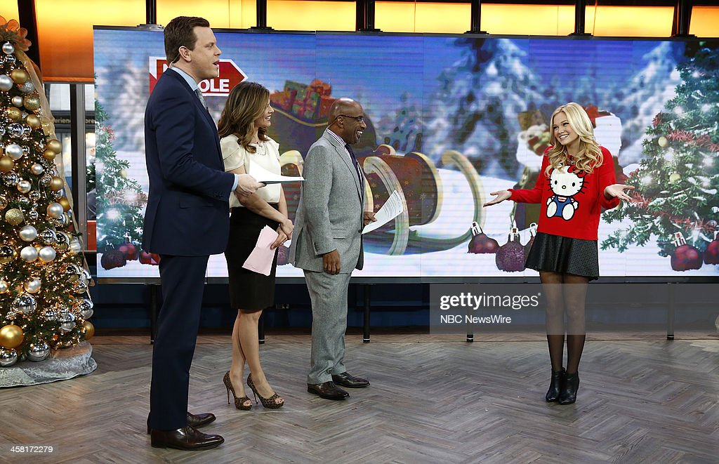 NBC News' Willie Geist, <a gi-track='captionPersonalityLinkClicked' href=/galleries/search?phrase=Natalie+Morales+-+News+Anchor&family=editorial&specificpeople=710956 ng-click='$event.stopPropagation()'>Natalie Morales</a>, <a gi-track='captionPersonalityLinkClicked' href=/galleries/search?phrase=Al+Roker&family=editorial&specificpeople=206153 ng-click='$event.stopPropagation()'>Al Roker</a> and actress/singer <a gi-track='captionPersonalityLinkClicked' href=/galleries/search?phrase=Olivia+Holt&family=editorial&specificpeople=7563645 ng-click='$event.stopPropagation()'>Olivia Holt</a> appear on NBC News' 'Today' show on December 20, 2013 --