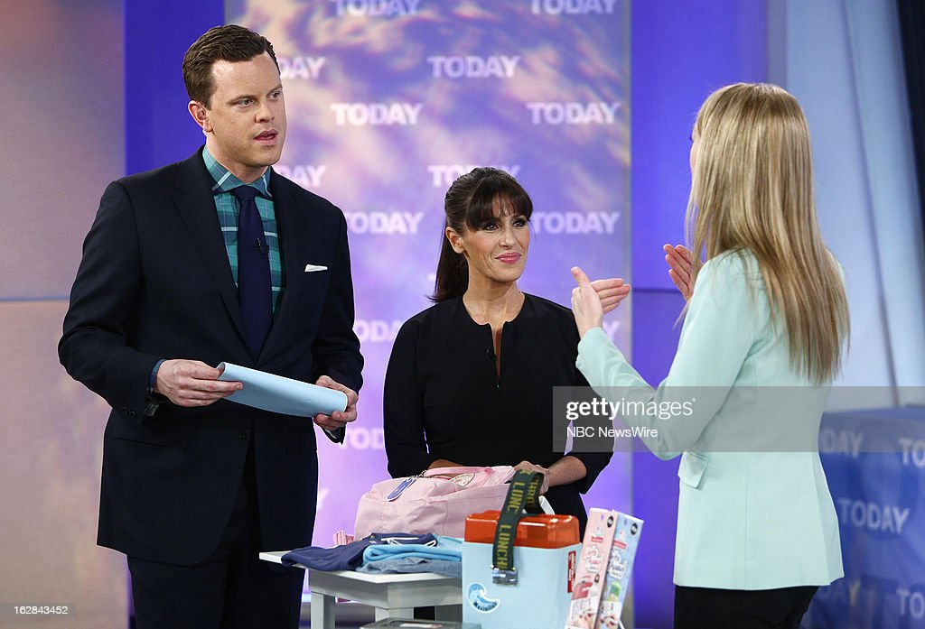 NBC News' Willie Geist, Soleil Moon Frye and Mabel's Label Co-Founder Julie Cole appear on NBC News' 'Today' show on February 28, 2013 --