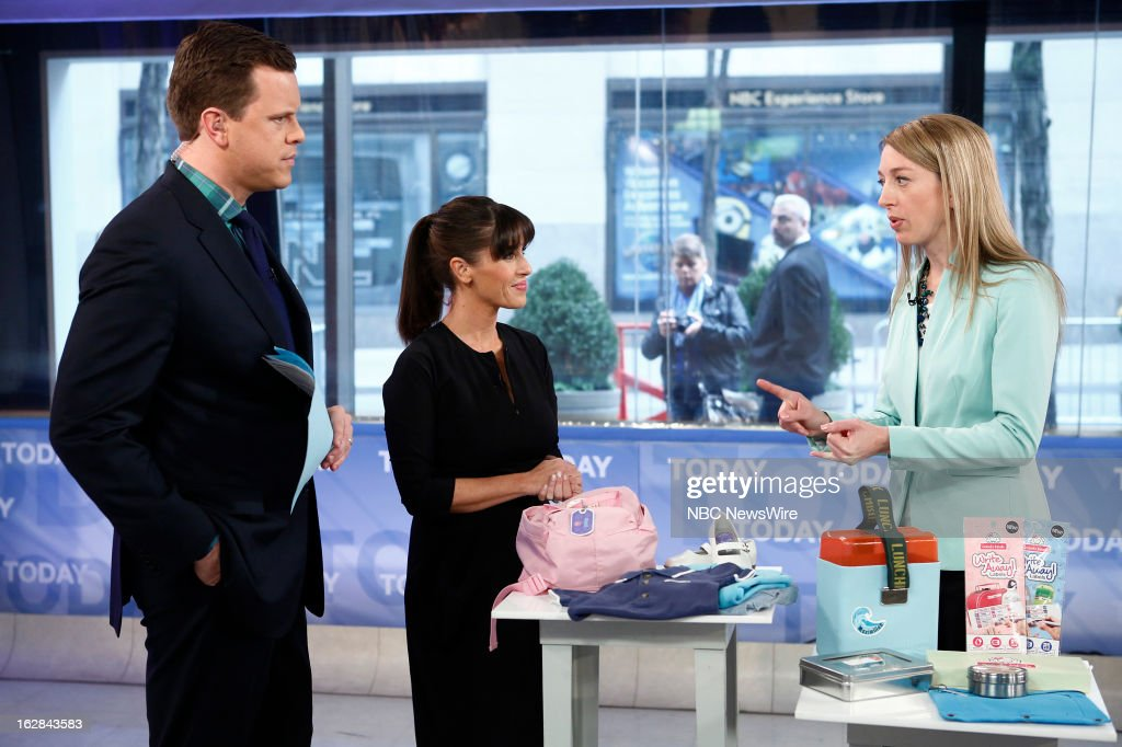 NBC News' Willie Geist, Soleil Moon Frye and Mabel's Labels Co-Founder Julie Cole appear on NBC News' 'Today' show on February 28, 2013 --