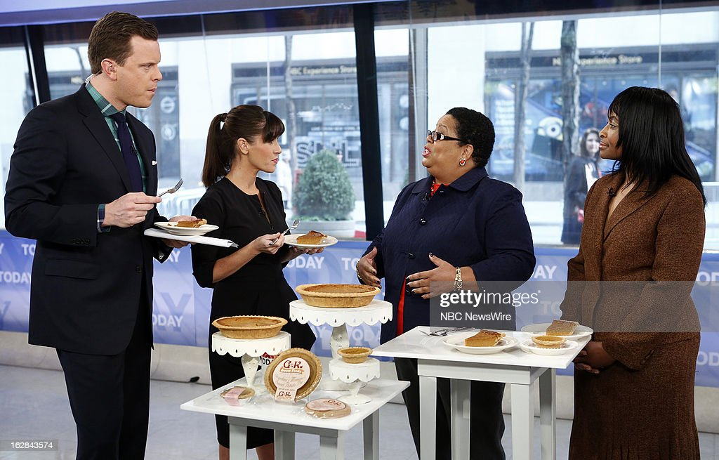 NBC News' Willie Geist, Soleil Moon Frye, G & K Sweet Foods' Gay Wheeler-Smith and Kecia Palmer-Cousins appear on NBC News' 'Today' show on February 28, 2013 --
