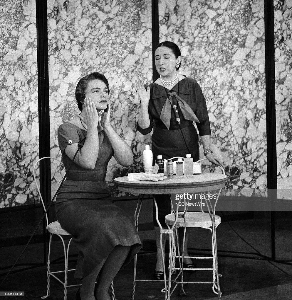 NBC News' 'Women's editor Estelle Parsons at Helena Rubenstein salon in April 1954 Photo by NBC/NBC NewsWire