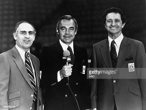 NBC SPorts' announcers Billy Packer Dick Enberg Al McGuire in 1980