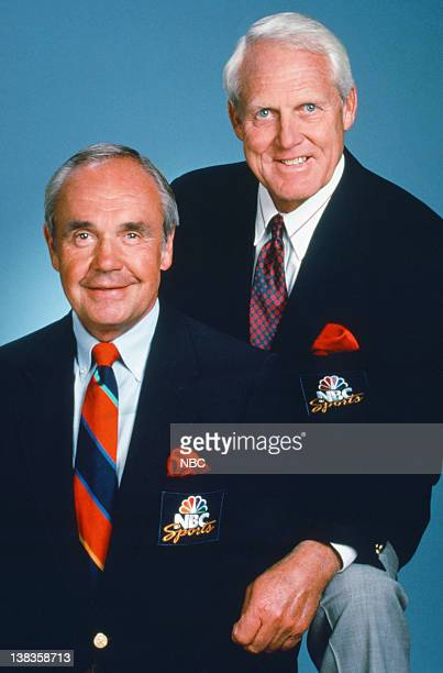 NBC Sports' announcers Dick Enberg Bill Walsh