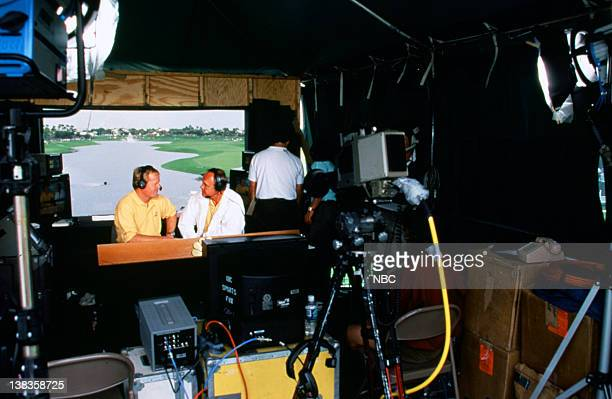 NBC Sports' announcers Johnny Miller Dick Enberg live from the PGA Tour's Honda Classic held at Weston Hills Country Club in Weston FL on March 12...