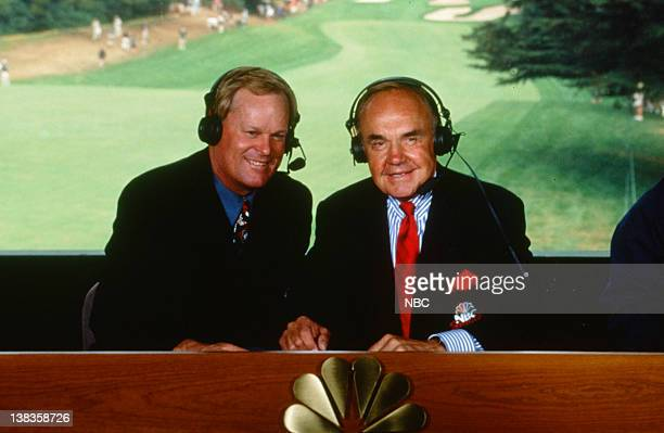 NBC Sports' announcers Johnny Miller Dick Enberg live from the 1999 PGA Tour