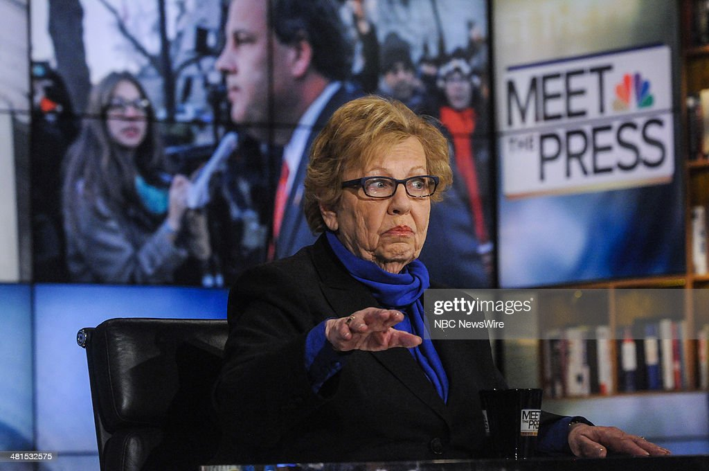 New Jersey State Sen. Loretta Weinberg (D-Teaneck) appears on 'Meet the Press' in Washington, D.C., Sunday, March 30, 2014.