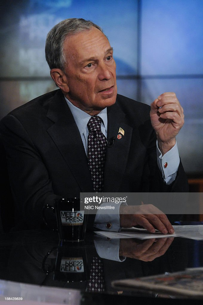 – New York City Mayor Michael Bloomberg appears in a pre taped interview on 'Meet the Press' in Washington D.C., Saturday, Dec. 15, 2012.