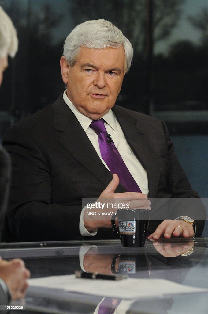 – Newt Gingrich, Former Speaker of the House, appears on 'Meet the Press' in Washington D.C., Sunday, Dec. 9, 2012.