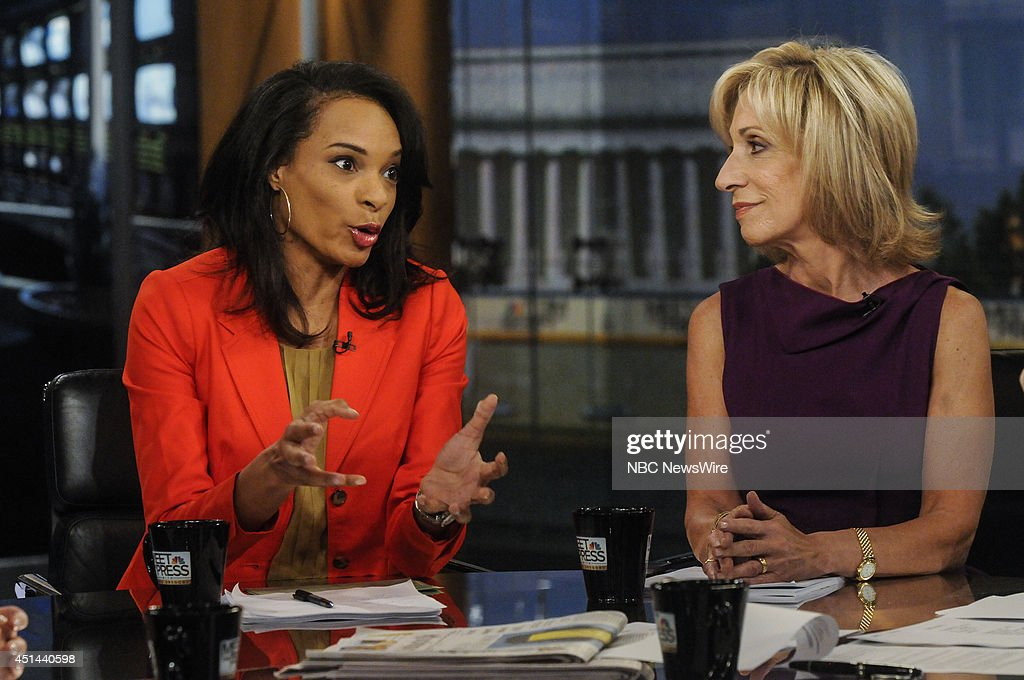 Nia-Malika Henderson, National Political Reporter, The Washington Post, left and Andrea Mitchell, NBC News Chief Foreign Affairs Correspondent, right, appear on 'Meet the Press' in Washington, D.C., Sunday, June 29, 2014.
