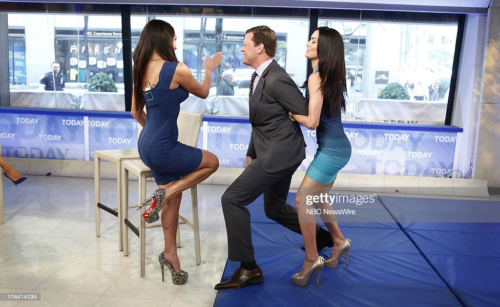 Nikki Bella, Willie Geist and Brie Bella appear on NBC News' 'Today' show --