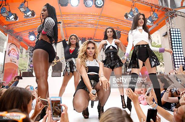 Normani Kordei Ally Brooke Hernandez Dinah Jane Hansen Lauren Jauregui Camila Cabello of Musical Group Fifth Harmony appear on NBC News' 'Today' show