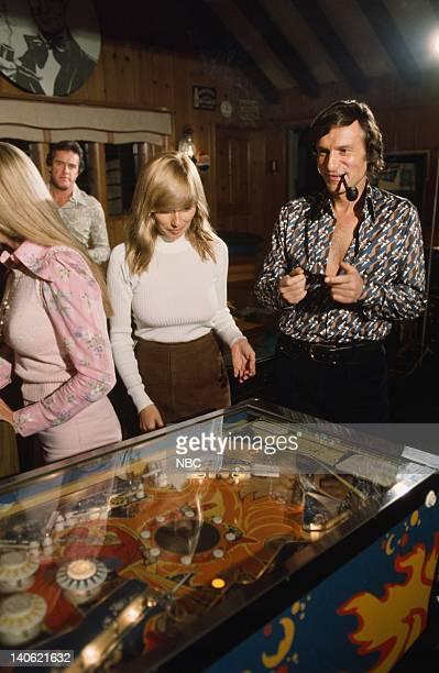 November 1975 Playmate Janet Lupo Playboy founder Hugh Hefner Photo by Ron Tom/NBCU Photo Bank