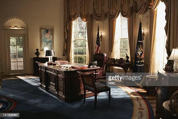 Oval Office set Photo by Mitch Haddad/NBCU Photo Bank
