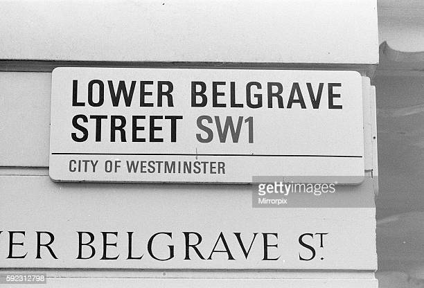 ower Belgrave Street SW1 London where estranged wife Lady Lucan and children lived Richard John Bingham 7th Earl of Lucan popularly known as Lord...