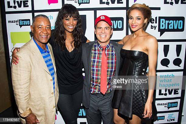 Ozzie Smith Aisha Tyler Andy Cohen and Ciara Photo by Charles Sykes/Bravo/NBCU Photo Bank via Getty Images