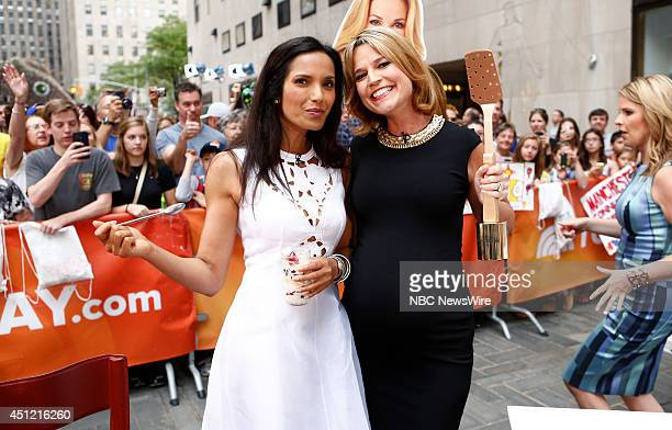 Padma Lakshmi and Savannah Guthrie appear on NBC News' 'Today' show