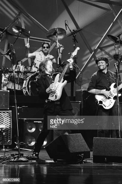 Patrick Simmons and Tiran Porter of the musical guest The Doobie Brothers perform on June 17 1991
