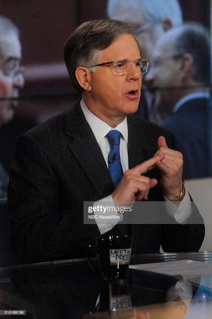 Pete Williams, NBC News, appears on 'Meet the Press' in Washington, D.C., Sunday Feb. 14, 2016.