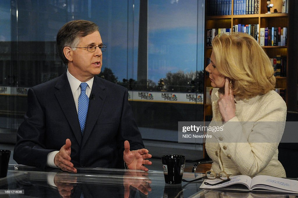 – Pete Williams, NBC News Justice Correspondent, right, and Peggy Noonan, Columnist, The Wall Street Journal, right, appear on 'Meet the Press' in Washington, D.C., Sunday, March 31, 2013.