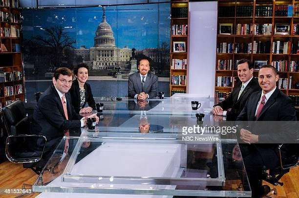 Peter Baker New York Times White House Correspondent Amy Walter Cook Political Report National Editor moderator Chuck Todd Rick Santorum Former...