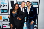 Phaeda Parks Andy Cohen and Apollo Nida Photo by Charles Sykes/Bravo/NBCU Photo Bank via Getty Images