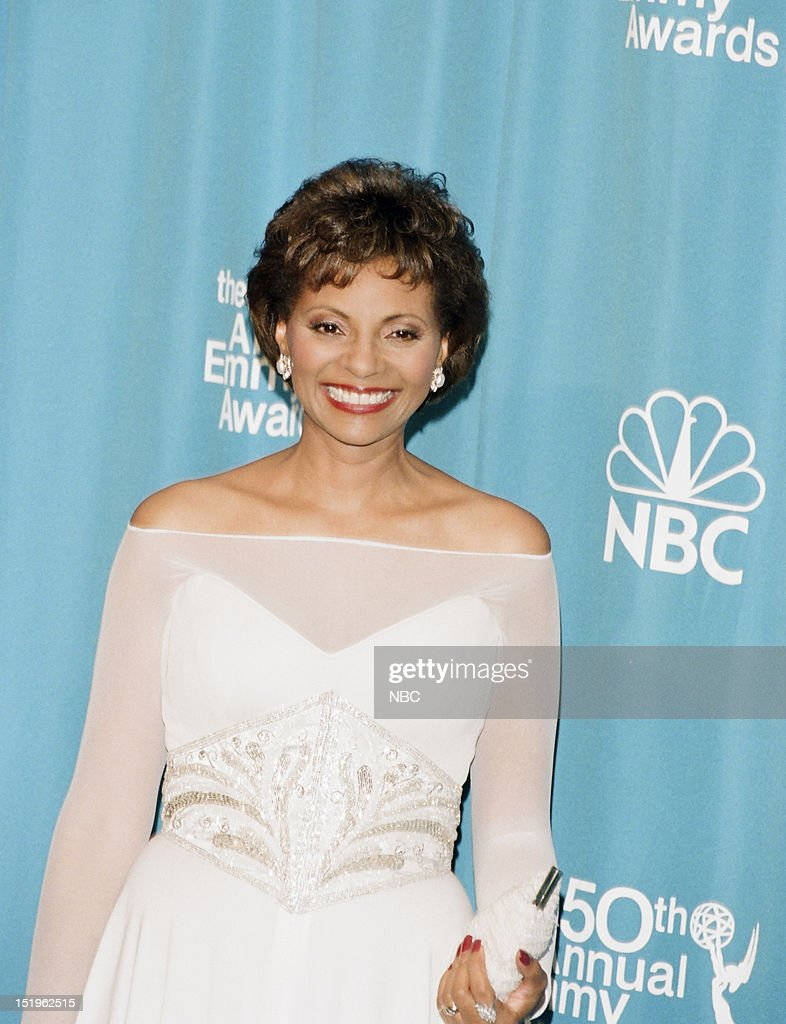 Presenter <a gi-track='captionPersonalityLinkClicked' href=/galleries/search?phrase=Leslie+Uggams&family=editorial&specificpeople=213729 ng-click='$event.stopPropagation()'>Leslie Uggams</a> during the 50th Annual Primetime Emmy Awards held at the Shrine Auditorium in Los Angeles, CA on September 13, 1998 --