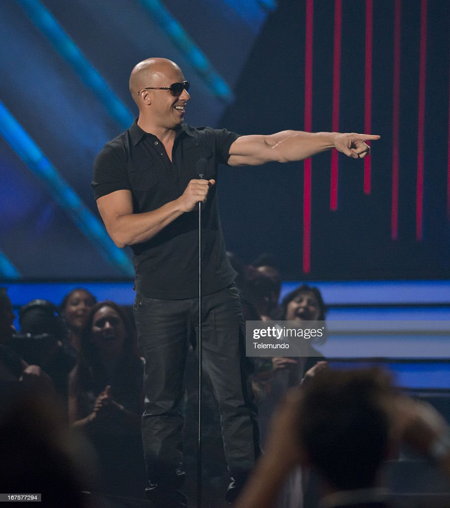 Presenter Vin Diesel at the 2013 Billboard Latin Music Awards held at the BankUnited Center, University of Miami in Miami, Florida on April 25, 2013 --