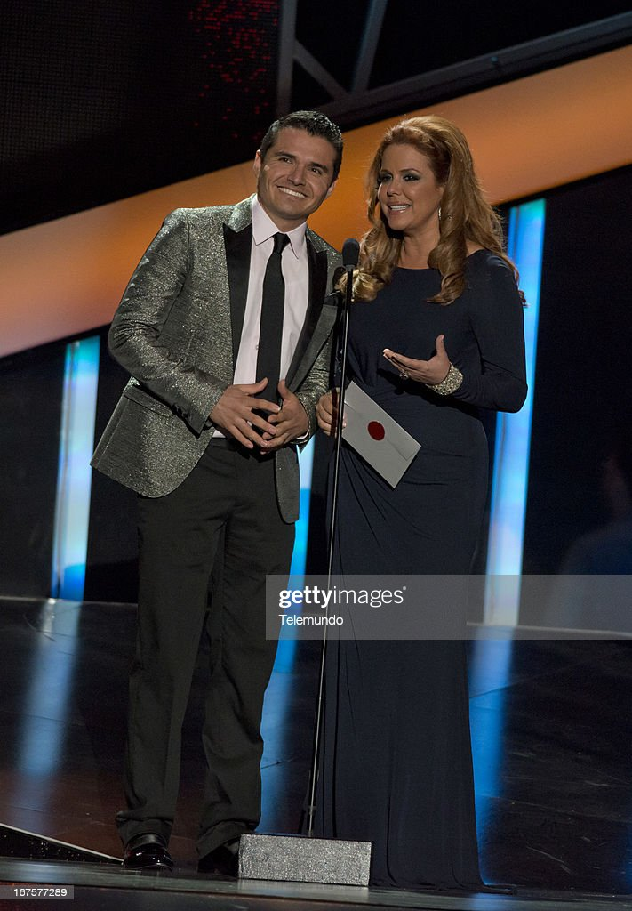 Presenters Maria Celeste and Horacio Palecia for the 2013 Billboard Latin Music Awards held at the BankUnited Center, University of Miami in Miami, Florida on April 25, 2013 --