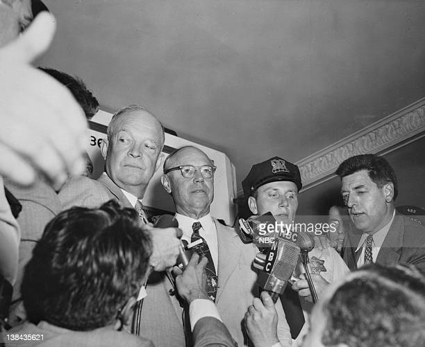 Presidential nominees General Dwight D Eisenhower Senator Robert Taft at the Republican National Convention at the International Amphitheatre in...