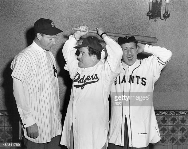 Professional baseball player Joe DiMaggio Lou Costello William 'Bud' Abbott