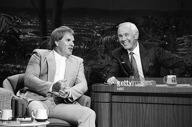 Professional baseball player Pete Rose during an interview with host Johnny Carson on September 13 1991