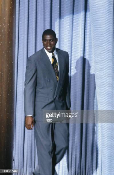 Professional basketball player Magic Johnson arrives on July 17 1991
